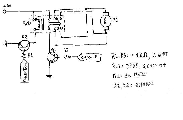 Circuitry Dc Motor Dpdt Relay Wiring on